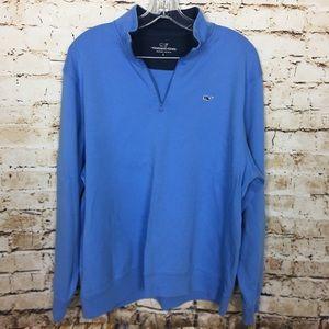 VINEYARD VINE 3/4 Zip Pullover Blue Sweatshirt